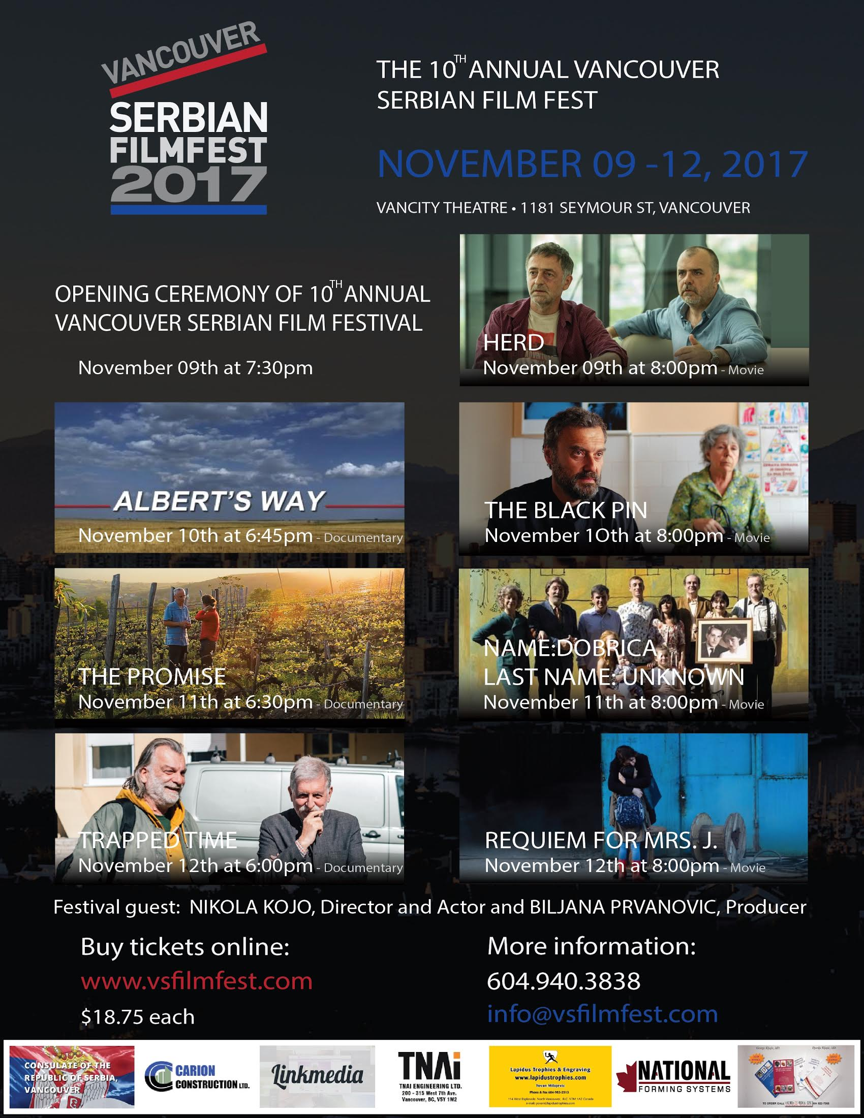The 10th Annual Vancouver Serbian FilmFest